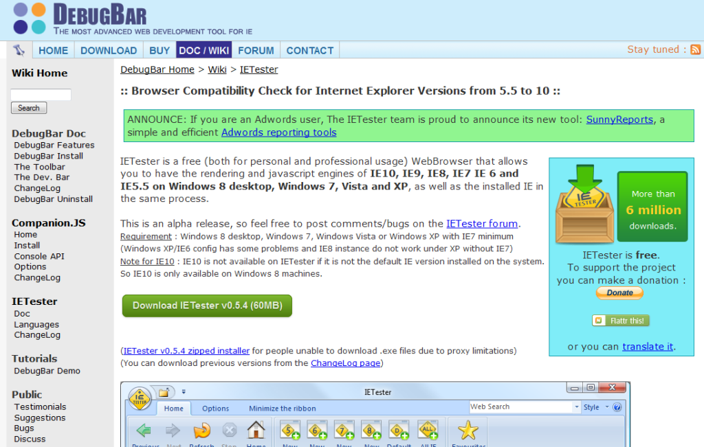 My DebugBar I IETester _ Browser Compatibility Check for Internet Explorer Versions from 5_5 to 10