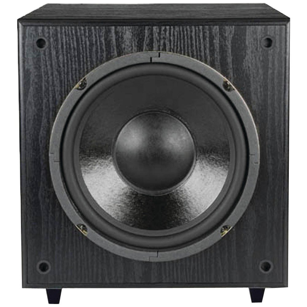 Pinnacle Speakers SubSonix 10-200 10-Inch 200 Watt Front Firing Powered Subwoofer (Black)