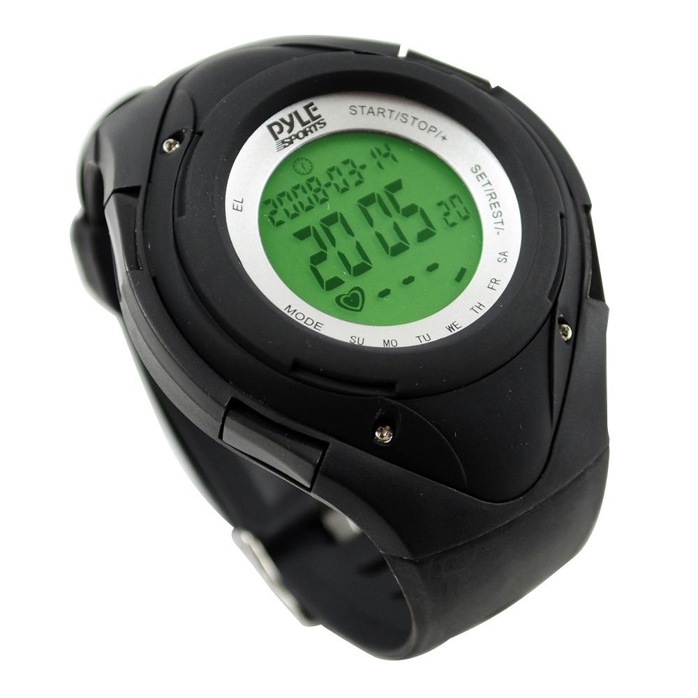 Pyle Sports PHRM38BK Heart Rate Monitor Watch with 3D Walking Running Sensor