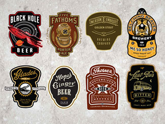 Cran  Beer Labels By David Cran