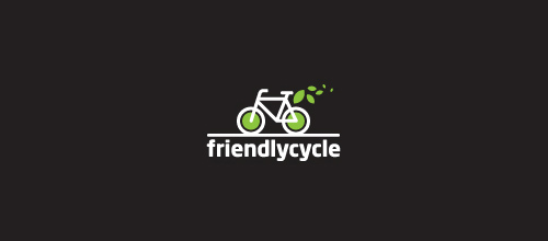 bike logo design Friendlycycle logo