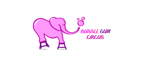 design Bubble Gum Circus logo