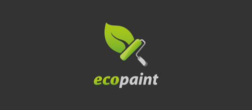 eco paint logo design examples