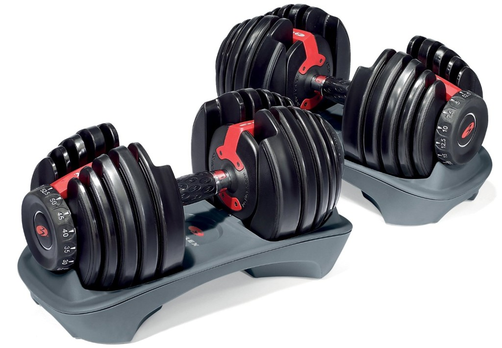 1.Bowflex SelectTech 552 Adjustable Dumbbells Pair