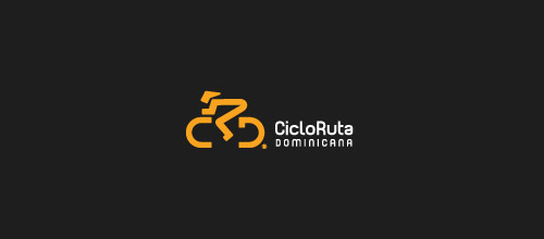 bike logo design CRD logo