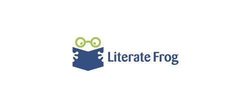 Literate Frog logo design examples