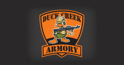 Gun ducks logo design examples