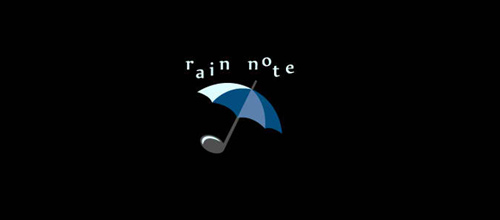 rain note logo design