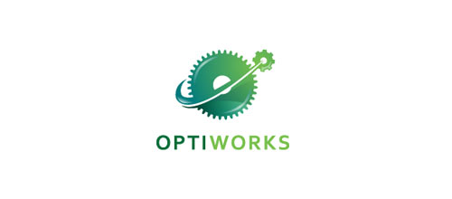 Optiworks logo design examples