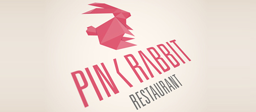 Pink Rabbit logo design examples