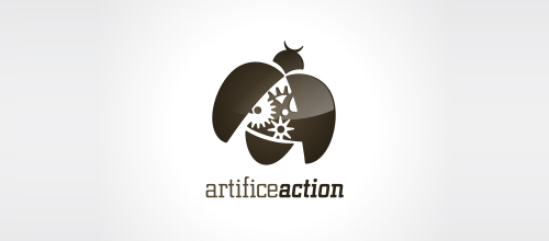 artifice action logo design examples