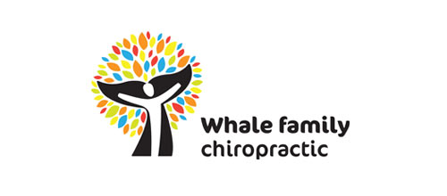 Whale Family Chiropractic logo design examples