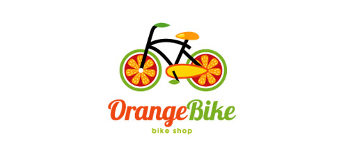 bike logo design orange logo design bike