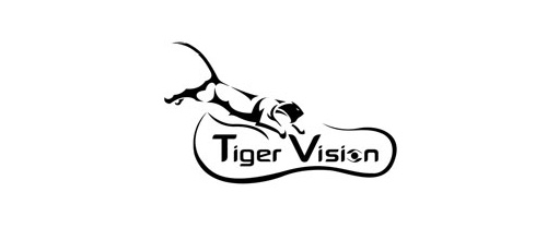 Glasses vision tiger logo design ideas