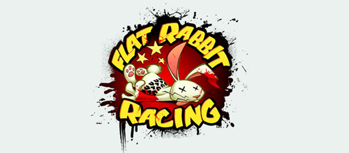 Flat Rabbit Racing logo design examples
