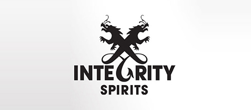 dragon logo design examples Integrity Spirits