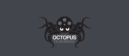 Octopus film & media logo design examples