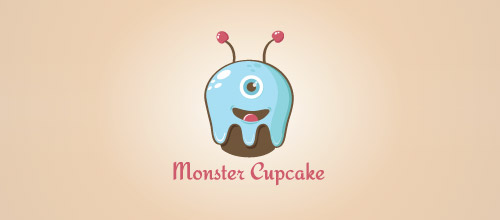 logo design monster cake logo
