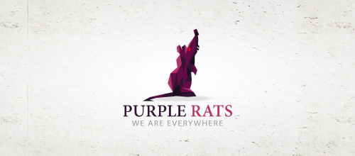 Purple rats logo design examples