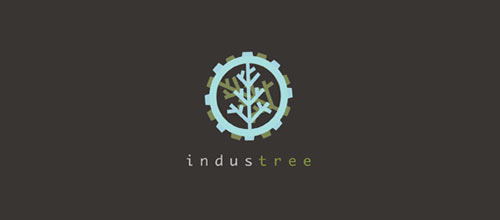 INDUSTREE logo design examples