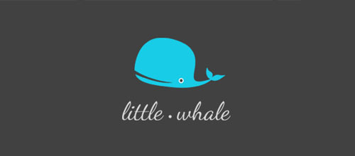 Little whale logo design examples
