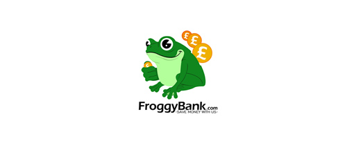 froggy bank logo design examples