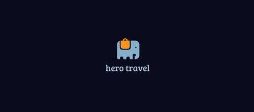 design hero travel logo