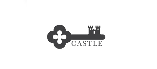 Key castle logo design examples ideas