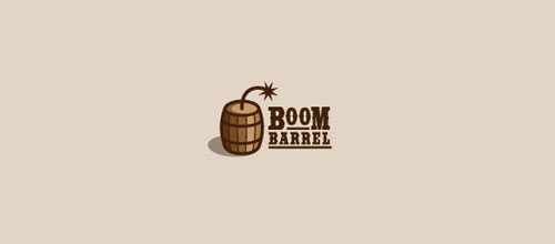 Boom-barrel logo design examples