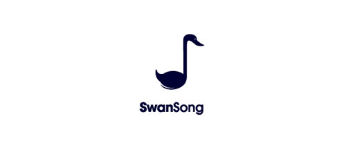 SwanSong logo design examples ideas