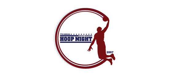 basketball logo design ideas Doug Johnson Hoop Night
