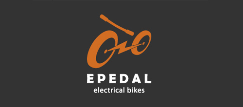 bike logo design E Pedal logo