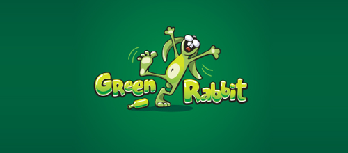 Green Rabbit logo design examples