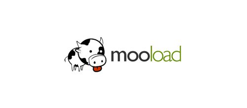 MooLoad logo design examples