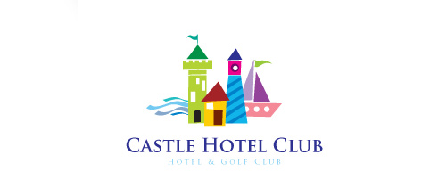 Hotel boat castle logo design examples ideas