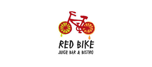 bike logo design Red Bike logo