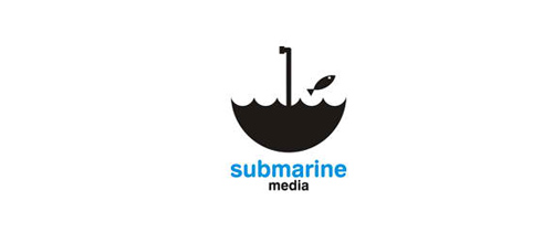 submarine media logo design