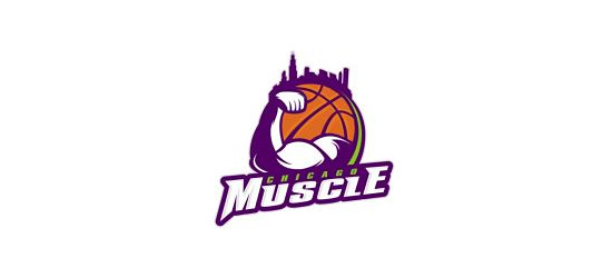 basketball logo design ideas Chicago Muscle