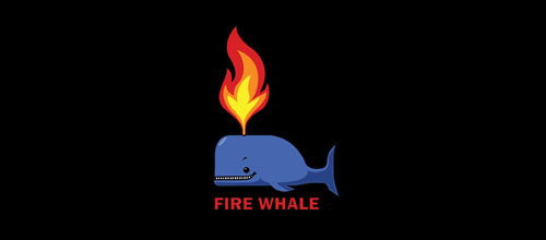 Fire Whale logo design examples
