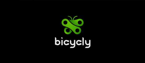 bike logo design bicycly logo