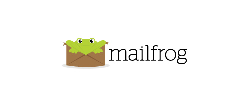 mail frog logo design examples