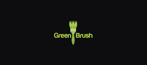 Green Brush logo design examples