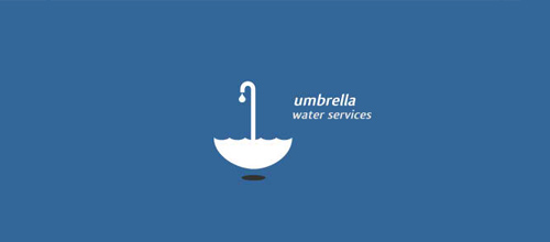 Umbrella Water Services logo design