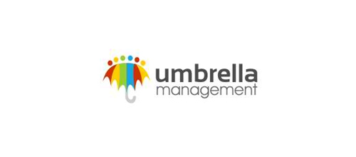 umbrella management logo design