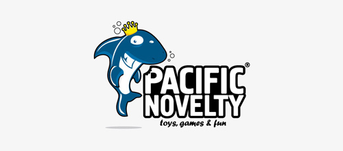 Pacific Novelty Toy Store logo design examples