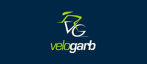 bike logo design VeloGarb logo