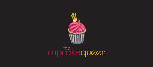 logo design cupcake queen