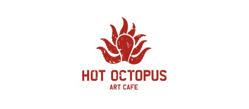 hot octopus logo design examples
