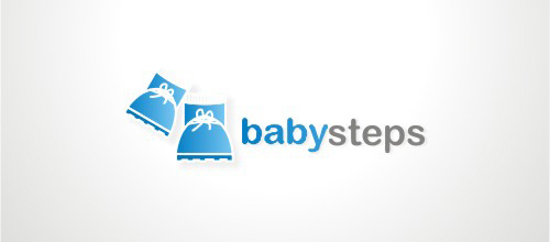 Baby Steps logo design