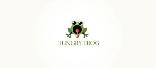 Hungry Frog logo design examples